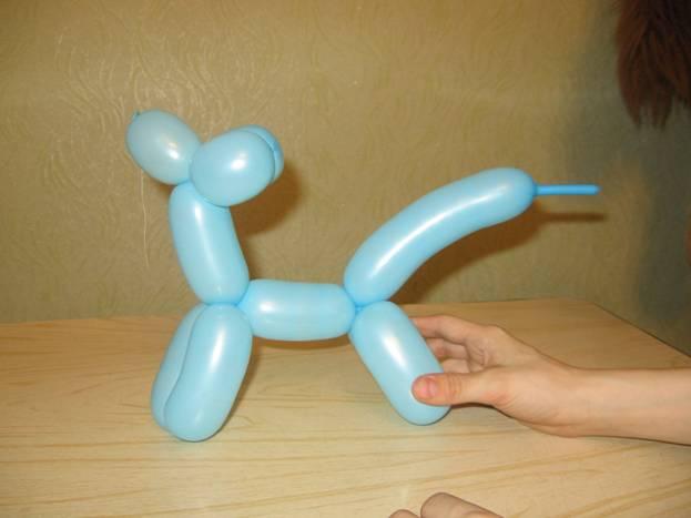 Как сделать собачку из воздушного шарика. Шаг 10