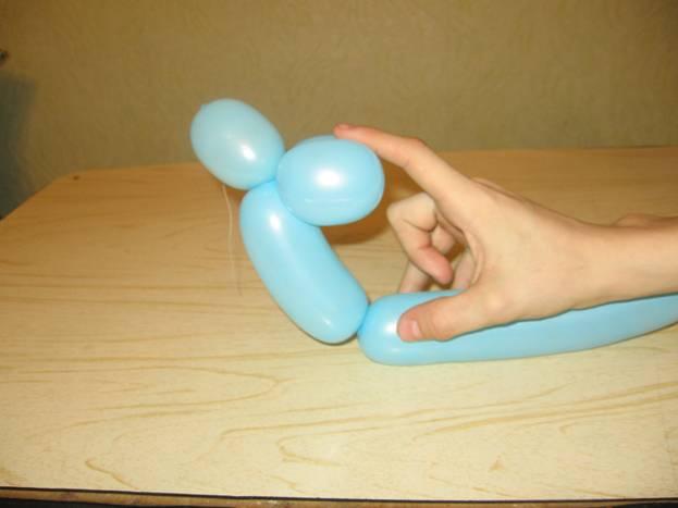 Как сделать собачку из воздушного шарика. Шаг 5
