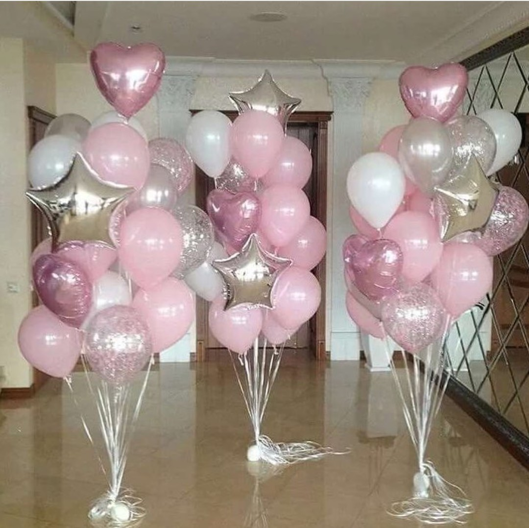 Воздушные шары в виде воздушных фонтанов